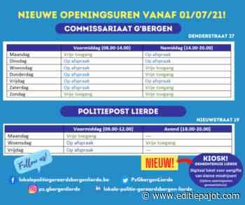 Politie GERAARDSBERGEN/LIERDE start met 'Onthaal op afspraak'! - Editiepajot