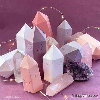 Frosted Paper Crystal Prisms