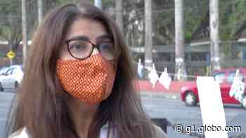 Motivada pela filha, professora de Santa Isabel confecciona e disponibiliza máscaras em varal - G1