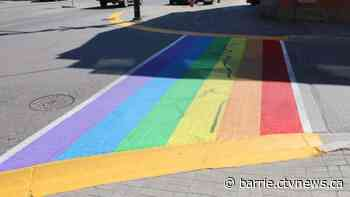 Orangeville Pride crosswalk damaged with spray paint - CTV Toronto