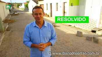 VÍDEO: Prefeito de Santa Helena atende pedido de moradores e soluciona problemática em galeria de esgoto - Diário do Sertão