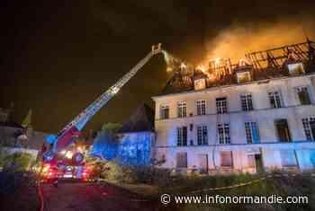 Le château de Oissel, près de Rouen, en flammes cette nuit : aucune victime n'est à déplorer - InfoNormandie.com