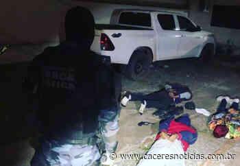 Força Tática evita roubo e prende quatro homens em Pontes e Lacerda - Cáceres Noticias
