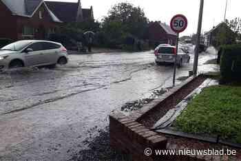 Wolkbreuk zorgt voor wateroverlast in Boortmeerbeek - Het Nieuwsblad