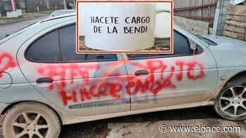 """""""Hacete cargo de la bendi"""", la pintada en el auto de un joven que apuntó a su ex - Sociedad - Elonce.com"""