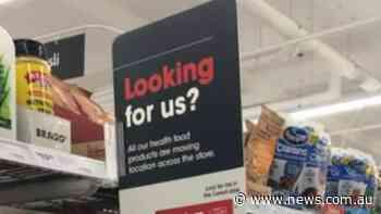 Coles scraps health food aisle