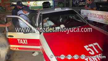 Detienen a taxista alcoholizado tras protagonizar percance - La Voz De Tantoyuca