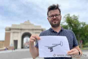 Tientallen bronzen sleutels sieren straks Ieperse voetpaden:... (Ieper) - Het Nieuwsblad