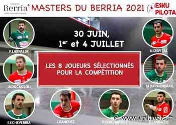 Master du Berria – Partie de pelote à main nue Hasparren dimanche 4 juillet 2021 - Unidivers