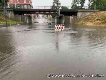 Unwetter über der Lausitz: Überflutungen in Elsterwerda und Finsterwalde - NIEDERLAUSITZ aktuell