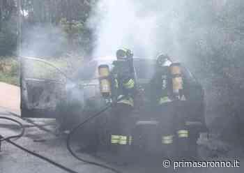 Groane Auto in fiamme a Cogliate, arrivano i Vigili del Fuoco - Prima Saronno