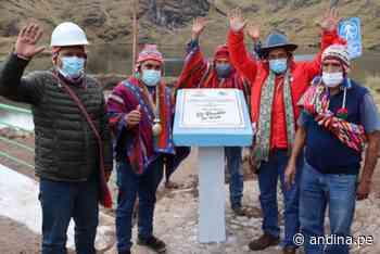 Cusco: inauguran represa en Calca que beneficia a más de 2000 pobladores - Agencia Andina