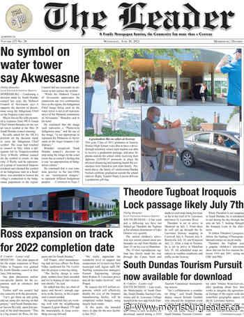 This week's headlines in The Leader – June 30, 2021 - The Morrisburg Leader
