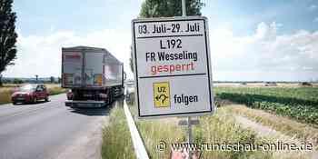 Bis Ende Juli: Landstraße 192 zwischen Wesseling und Bornheim voll gesperrt - Kölnische Rundschau