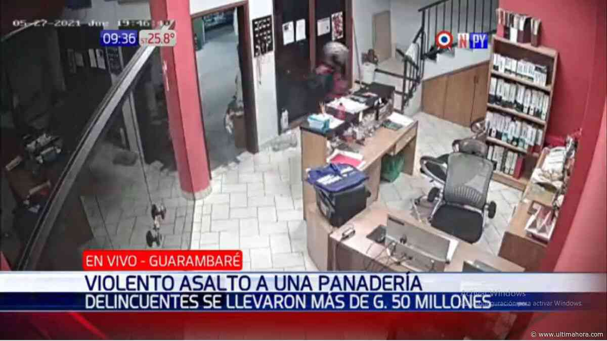 Roban millonario monto de una panadería en Guarambaré - ÚltimaHora.com