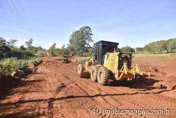 Prefeitura de Umuarama está readequando a estrada velha para Cruzeiro do Oeste, em Lovat - Umuarama News