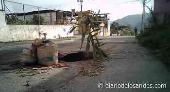 Troncal 007 de Boconó tramo Valle Verde con fugas de aguas servidas y completamente deteriorado - Diario de Los Andes