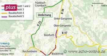 Reichelsheim Wieder eine Umleitung bei Reichelsheim - Echo Online