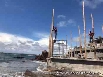 Casi en el mar, levantan construcción en Playa Cerritos, al norte de Mazatlán - Noroeste