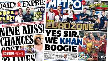 Scotland's papers: Tartan Army London party and arena victims 'failed' - BBC News
