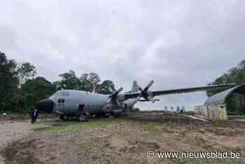 """Laatste C-130-vrachtvliegtuig zou tentoongesteld worden, maar is """"op Waals patattenveld gedumpt"""" - Het Nieuwsblad"""