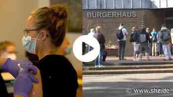 Corona-Impfaktion in Harrislee: Video: Großer Zulauf schon am Morgen bei Corona-Impfung mit Astrazeneca | shz.de - shz.de