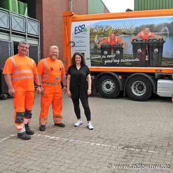 Aufdruck an Müllfahrzeugen in Bocholt - RADIO WMW