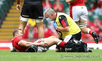 Wales 68-12 Canada: Leigh Halfpenny's 100th cap is marred by a serious knee injury one minute in