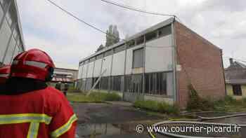 Les pompiers éteignent un incendie dans un entrepôt de Hermes - Le Courrier picard