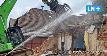 Hamburger Straße: Brandruine in Bad Segeberg wird abgerissen - Lübecker Nachrichten