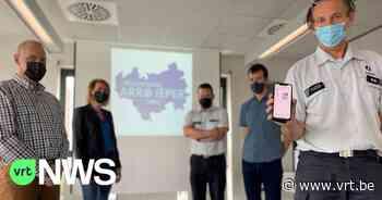 """Politiezone Arro Ieper lanceert app voor niet-dringende oproepen: """"Gemakkelijk foto en locatie doorsturen"""" - VRT NWS"""