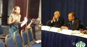 "Mujer grita ""golpistas"" a políticos que llegaron a la OEA en respaldo de Keiko Fujimori - Diario Ojo"