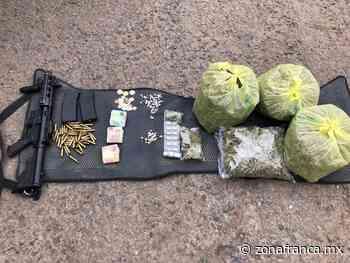 Detienen a cinco hombres en Bellavista, con 4 kilos de marihuana y un arma larga - Zona Franca