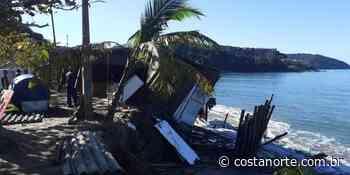 Quiosque é destruído após ressaca em Caraguatatuba (SP) - Jornal Costa Norte