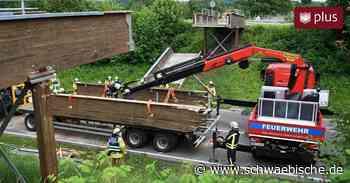 Brücke bei Meckenbeuren stürzt ein - Fahrer war wohl Schuld - Schwäbische