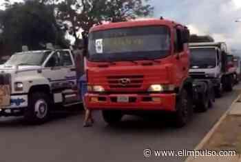 ▷ Transportistas de carga pesada en El Tocuyo protestaron por escasez de combustible #8Ene - El Impulso