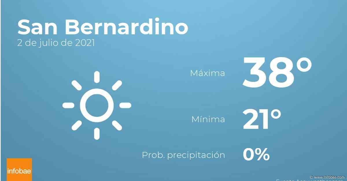 Previsión meteorológica: El tiempo hoy en San Bernardino, 2 de julio - infobae