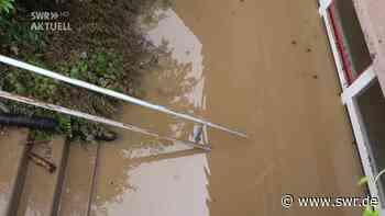 Starkregen in Karlsbad: Hauptstraße und Keller überflutet - SWR