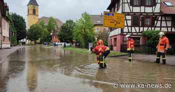 70 Einsätze für die Feuerwehr: Überflutete Straßen nach Unwetter in Karlsbad - ka-news.de
