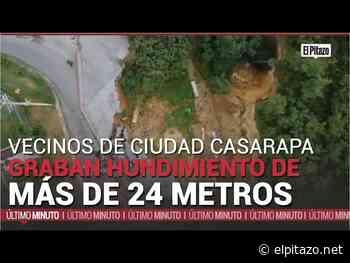 Guarenas | Hundimiento en Ciudad Casarapa supera los 24 metros de diámetro - El Pitazo