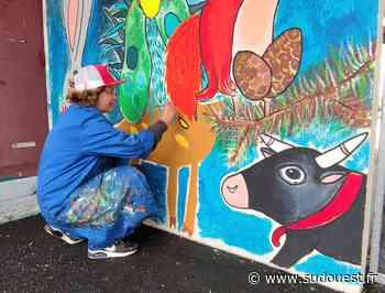 Parentis-en-Born : des fresques à l'école des arènes - Sud Ouest