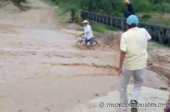 Abuelito es rescatado en Ajalpan cuando se lo llevaba la corriente de agua - Municipios Puebla