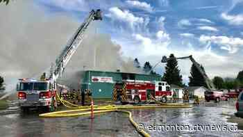 Stony Plain curling rink destroyed by fire - CTV News Edmonton