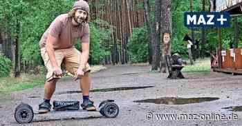 Skateboard mit Motor: Franz Hertam führt das E-Board in Beelitz nach Deutschland ein - Märkische Allgemeine Zeitung