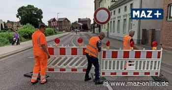 Holpriger Start für Sanierung Kreisverkehr in Wittstock - Märkische Allgemeine Zeitung
