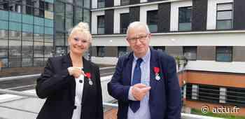 Val-d'Oise. Légion d'honneur à l'hôpital de Pontoise : le Dr Jean-Louis Dubost et Estelle Bonnal médaillés - actu.fr