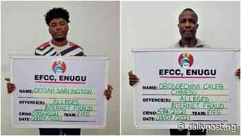 EFCC arrests 20 suspected internet fraudsters in Enugu, Port Harcourt - Daily Post Nigeria