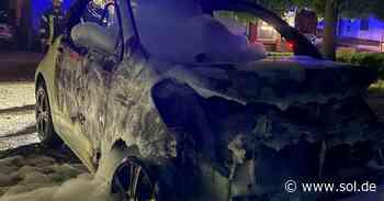 Polizei geht von Brandstiftung aus: Auto in Illingen niedergebrannt - sol.de