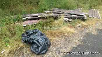 Discarica di amianto nei boschi tra Fosdinovo e Castelpoggio - La Voce Apuana