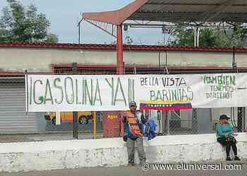 Exigen gasolina en la bomba Bella Vista de Barinitas en Barinas - El Universal (Venezuela)
